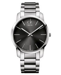 Calvin Klein Watch Men's Swiss City Stainless Steel Bracelet 43Mm K2g21161