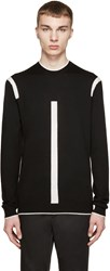 Mcq By Alexander Mcqueen Black And White Color Tip Pullover