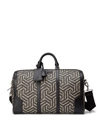 Gucci Gg Caleido Canvas Duffel Bag Black Beige