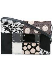 Jamin Puech Multi Pattern Crossbody Bag Black