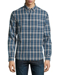 Tailor Vintage Plaid Woven Sport Shirt Patriot