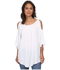 Gabriella Rocha Elly Open Shoulder Top White Women's Blouse