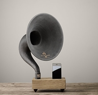 Mini Desktop Iphone Gramophone Dry Oak