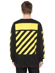 Off White 7 Opere Printed Cotton Sweatshirt