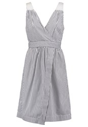 Banana Republic Summer Dress Blue Off White