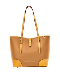 Dooney And Bourke Claremont Dover Leather Tote Tan
