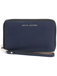 Marc Jacobs 'Wingman' Phone Wallet Blue