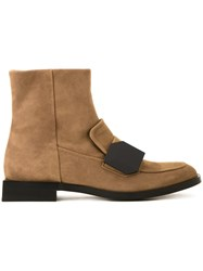 Pierre Hardy Strap Detail Ankle Boots Brown