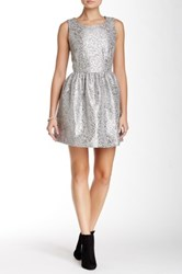 Julie Brown Eva Pleather Sleeveless Dress Metallic