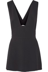 Stella Mccartney Amanda Stretch Cady Top Black