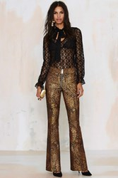 Nasty Gal Go For Baroque Flared Pants