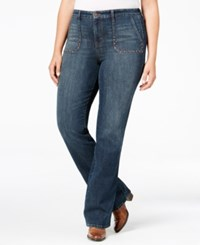 Styleandco. Style Co. Plus Size Studded Blue Shadow Wash Bootcut Jeans Only At Macy's