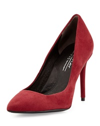 Kenneth Cole New York Parkville Suede Leather High Heel Pump Wine