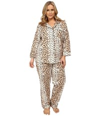 Bedhead Plus Size Classic Flannel Pj Set Royal Animal Women's Pajama Sets Silver