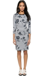 O'2nd Monet Print Raglan Sleeve Dress Mix
