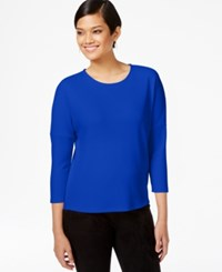 Bar Iii Solid Crepe Top Only At Macy's Bright Sapphire