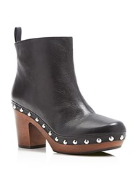 French Connection Colin Clog Heel Platform Booties