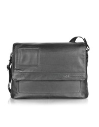 Piquadro Vibe Laptop And I Pad And 174 Messenger Bag Black