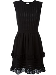 Red Valentino Knitted Dress Black
