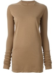 Rick Owens Drkshdw Slim Fit Longsleeved Knitted Blouse Brown