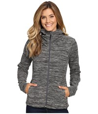 Mountain Hardwear Snowpass Fleece Full Zip Hoodie Heather Black Women's Sweatshirt