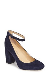 Ivanka Trump Women's Oasia Ankle Strap Pump Deep Baltic Suede
