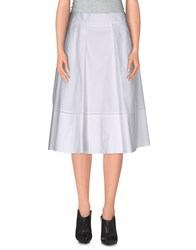 Salvatore Ferragamo Skirts Knee Length Skirts Women White