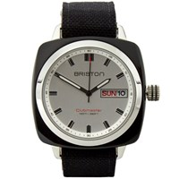 Briston Clubmaster Sport Hms Watch Polished Black And White
