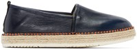 Msgm Navy Leather Espadrilles