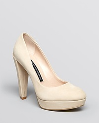 French Connection Platform Pumps Nambia High Heel Sand Nubuck