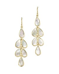 Ippolita 18K Yellow Gold Rock Candy Cascade Teardrop Earrings With Mother Of Pearl White Gold