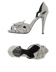 Giorgio Armani Footwear Sandals Women Light Grey