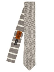 Missoni Wool Knit Tie Grey Multi