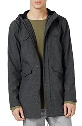 Topman Men's Fleece Lined Nylon Blend Parka