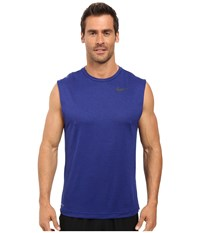 Nike Dri Fit Training Muscle Tank Top Obsidian Deep Royal Blue Black Men's Sleeveless