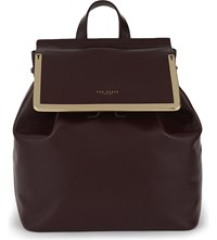 Ted Baker Lyliana Leather Backpack Maroon
