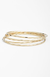 Nordstrom Hammered Bangles Set Of 5 Gold