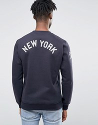 New Era Yankees Raglan Sweatshirt With Back Print Navy