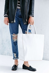 Bdg Tumbled Leather Tote Bag White