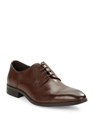 Black Brown Columbus Leather Oxfords Brown
