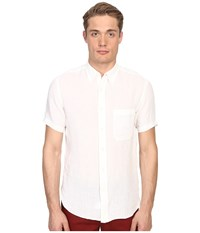 Billy Reid Short Sleeve Tuscumbia Shirt White Men's Short Sleeve Button Up