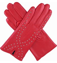 Dents Millie Stud Detail Leather Gloves Berry