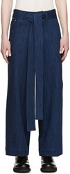 Craig Green Blue Belted Wide Leg Jeans