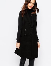 New Look Double Breasted Coat Black