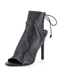 Schutz Mirtis Slouchy Leather Bootie Slate Gray