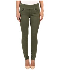Jag Jeans Nora Pull On Skinny Freedom Colored Knit Denim In Canteen Canteen Women's Brown