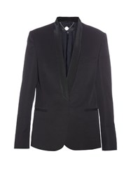 Stella Mccartney Shawl Lapel Tuxedo Jacket Black