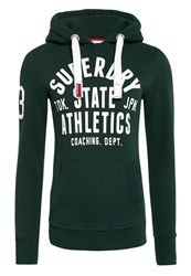 Superdry State Athletics Trackster Hoodie Green