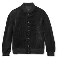 Engineered Garments Garment Velvet Bomber Jacket Black