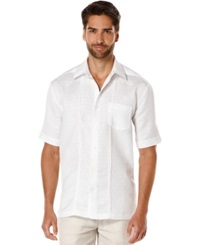 Cubavera Texture Dobby Short Sleeve Shirt Bright White
